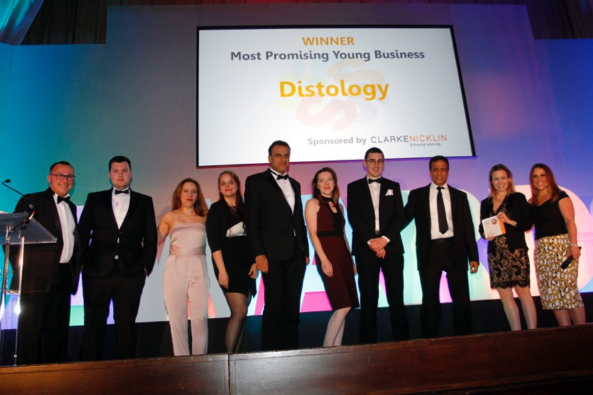 2016 winners of Most Promising Business, Distology
