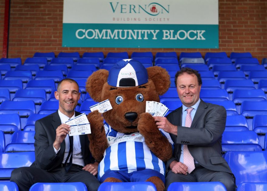 vernon building society renew schools outreach programme with Stockport County - Pictures Andy Lambert