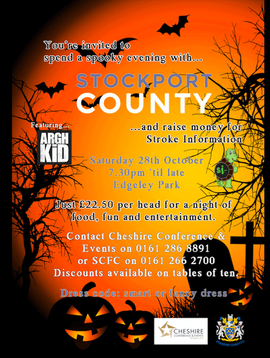 Halloween charity event at Stockport County