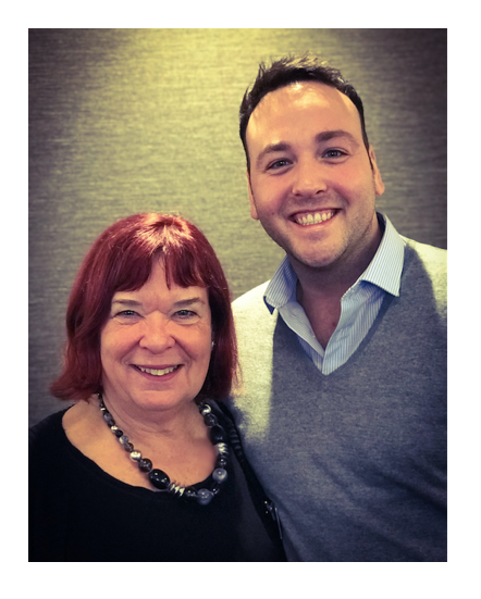 Jackie Dootson with Stewart Bowden from P&P Mailing