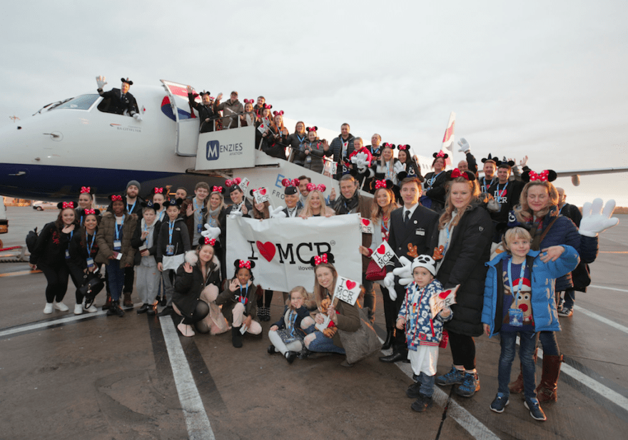 Manchester Arena families take off for Disneyland Paris