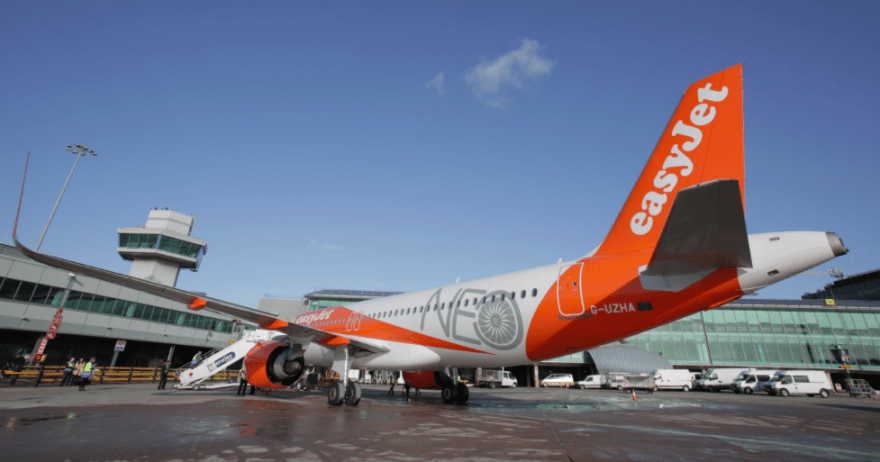 easyJet showcases the Airbus A320neo at Manchester Airport