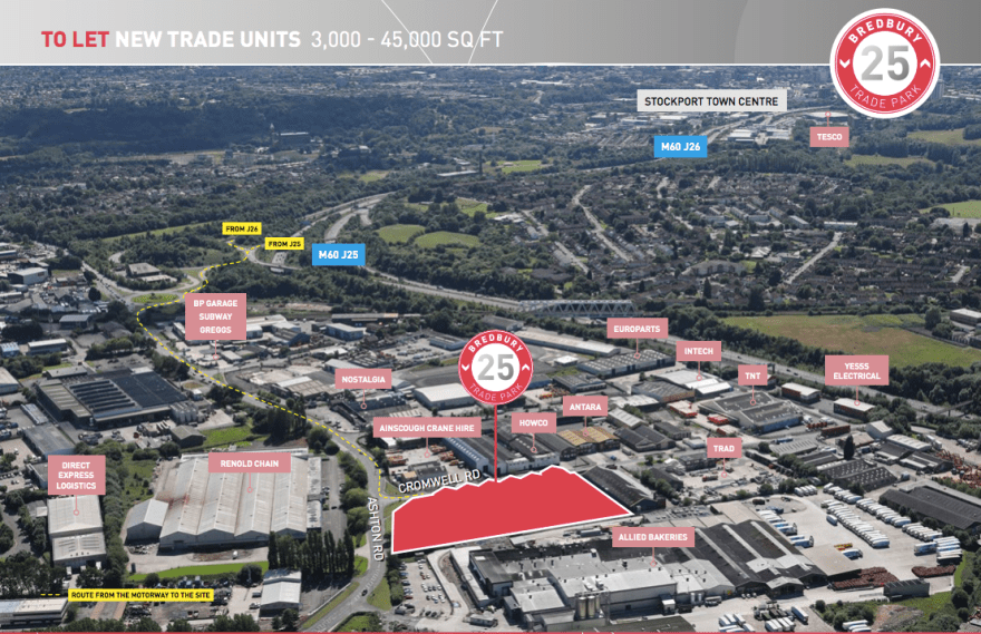 Bredbury 25 Trade Park is due for completion this summer