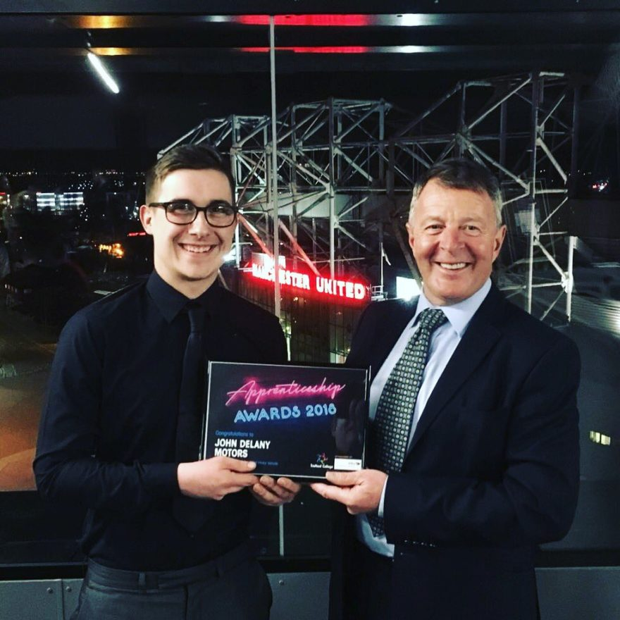 John Delany and Harrison with their Commitment To training Award 2018