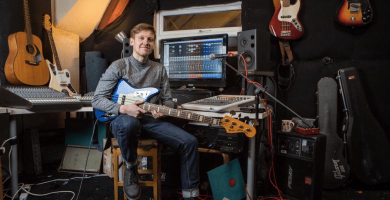 Dutch Uncles bass guitarist Robin Richards