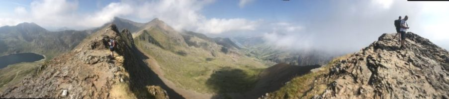 Hallidays Team tackle Snowdon horseshoe