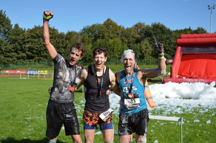 Tough Tribe Male Winners L-R Joel Grocock, Ollie Sterne, Jason Jacob