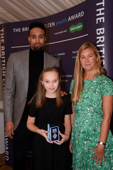 Specsavers - Georgie Cavanagh BCyA with Ashley Banjo & Liz Moorse CEO, ACT