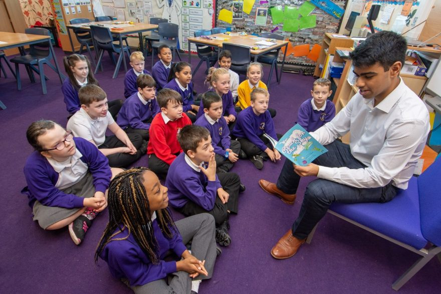 Manchester Airport reads Reach for the Sky - a free book for children