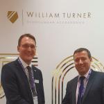 Dan Turner, managing director of William Turner (left) with Mike Humble