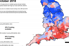 Housing investment appears skewed in favour of the South of England