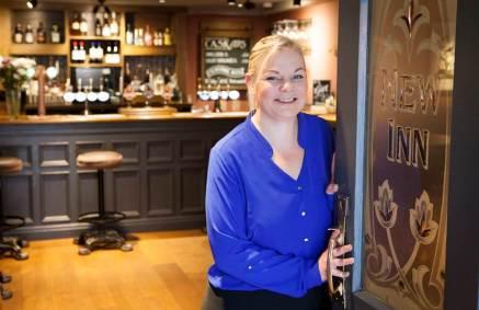 Nicola Bremner, licensee of the New Inn