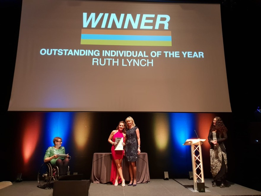 Life Leisure's Ruth Lynch won an Outstanding Award