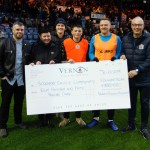 Vernon Building Society Cheque Presentation to Stockport County Community Foundation