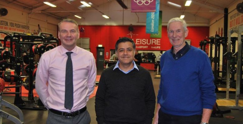 Life Leisure's Group CEO Malcolm McPhail, new chair Gaurav Batra, and acting chair Mike Atkinson