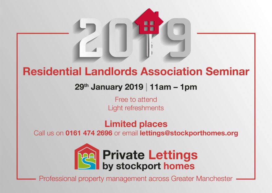 Residential Landlords seminar at Stockport Homes