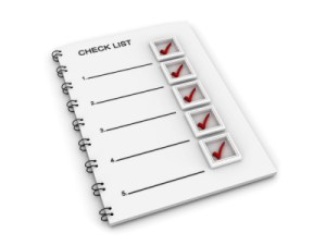 your marketing check list