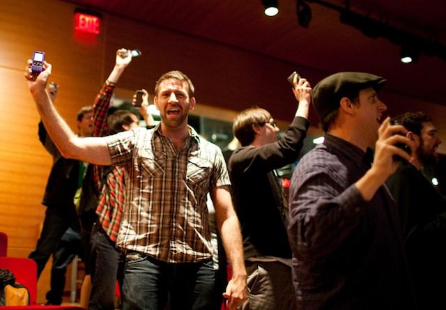 Helyszínpróba a The Times Centerben, a GEL Konferenciát megelőző napon