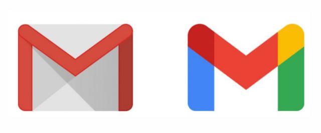 A régi és az új Gmail logó