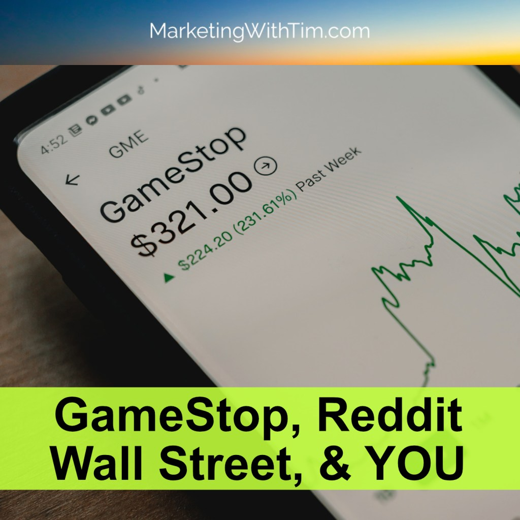 GameStock RobinHood Stock Marketing Lessons Reddit wall street bets