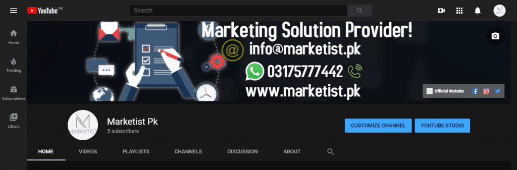 MArketing Solutions Provider - youtube cover