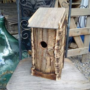 Market Junction and the Cozy Cup Cafe Antique and Artisan Market Cremona Alberta Wolfdog Studios Species specific bird house of salvaged materials