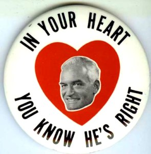 Barry Goldwater Pin Heart Right