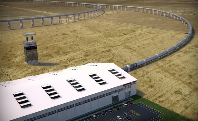 Artists rendering of what the Quay Valley Hyperloop could look like.