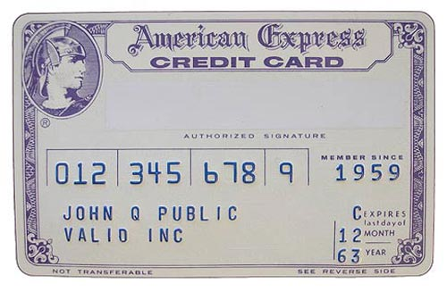 This is the Amex Card Don Draper probably had in his wallet.