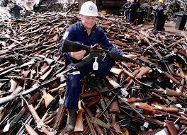 Gun destruction in Australia.