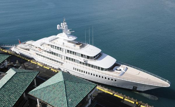 One of Larry's Yachts. One of the world's largest.