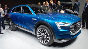 The Audi Etron concept electric SUV meets the press in Frankfurt.