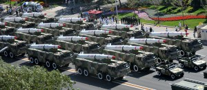 The People's Liberation Army's firepower on parade.