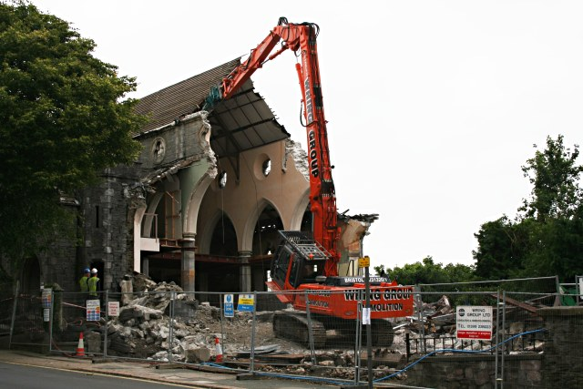 The_Demolition_of_St_Michael's_Church,_Albert_Road_-_geograph.org.uk_-_484548