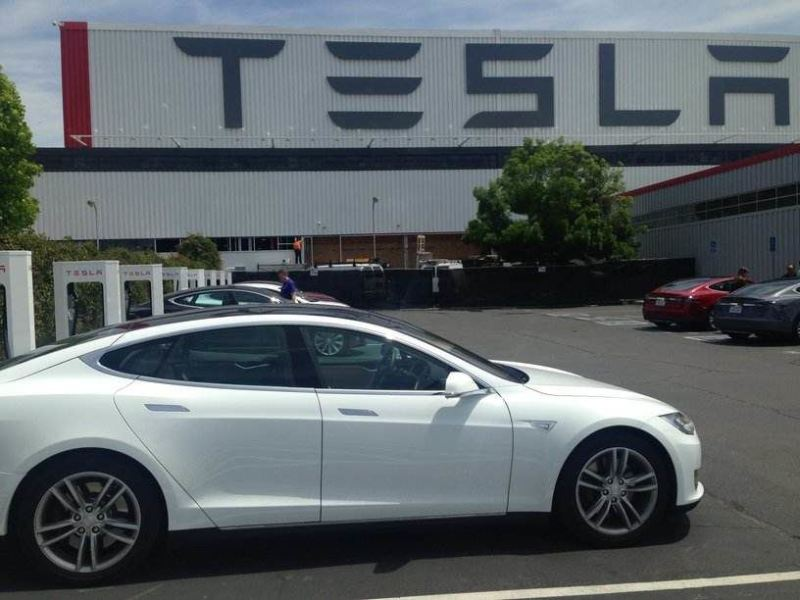 Tesla's main factory in Fremont, California, ironically enough it used to be a Toyota plant.