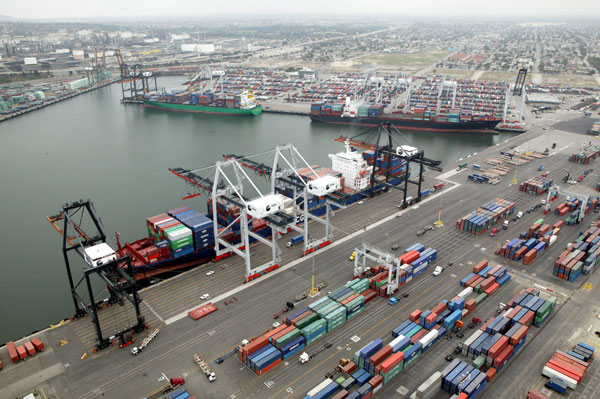 Another shot of the Port of Los Angeles.