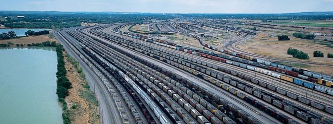 Union Pacific's Classification yards in North Platte, Nebraska, the world's largest