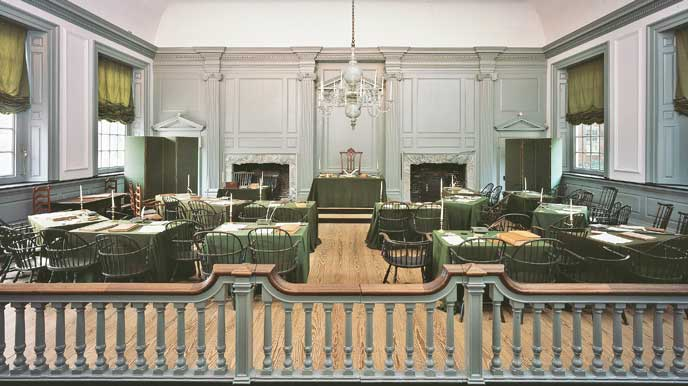 This is the room where the Founders wrote the Constitution.