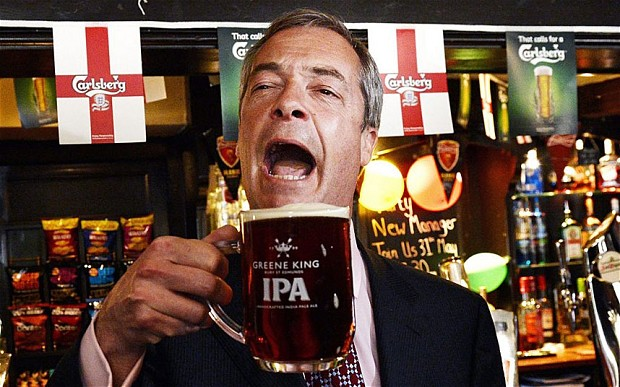 Nigel Farage the clown prince of British Politics.
