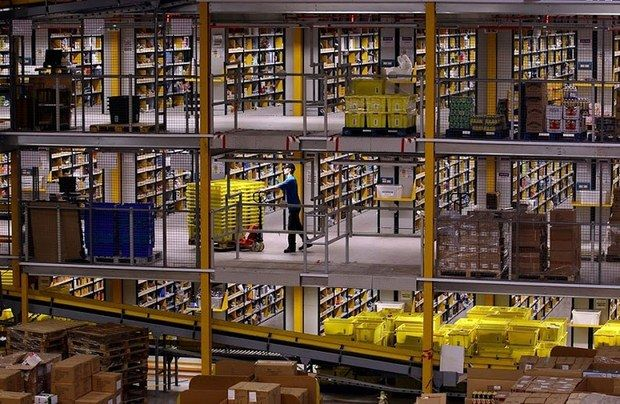 The inside of an Amazon Fulfillment Center shows how big the company really is.