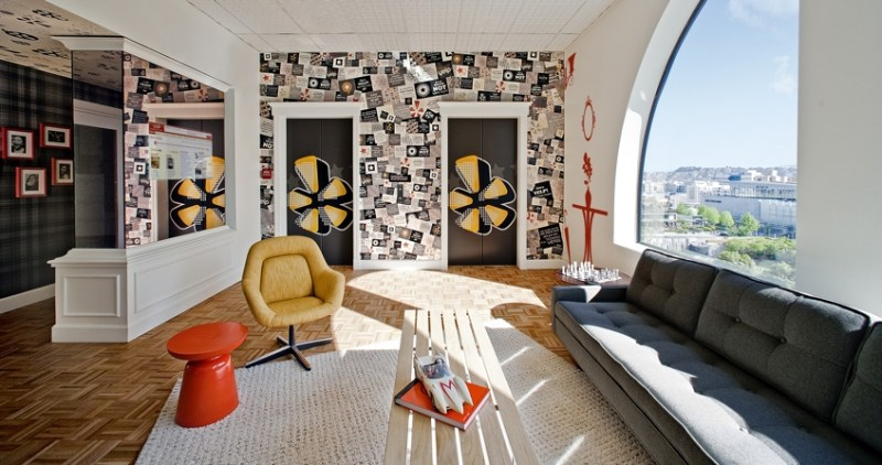 The interior of Yelp's office in San Francisco.