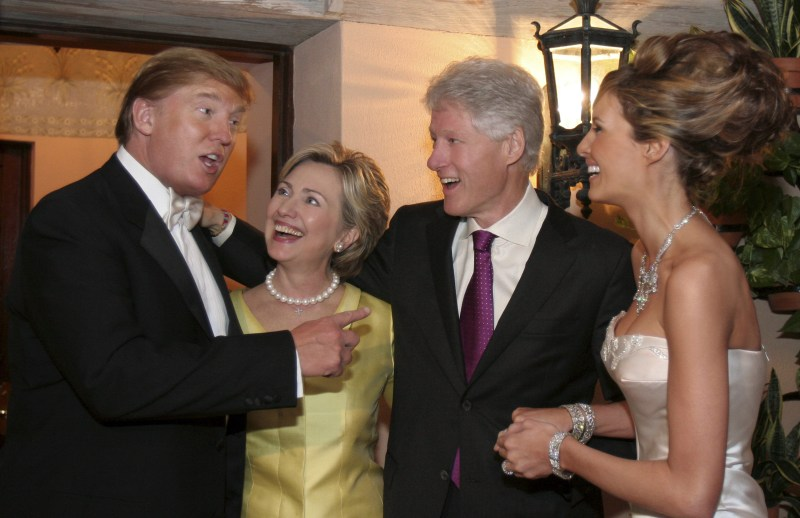 The real relationship between Donald and Hillary they're friends.