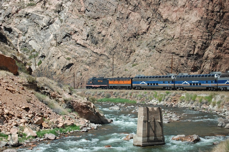 Tourist train in the Royal Gorge.