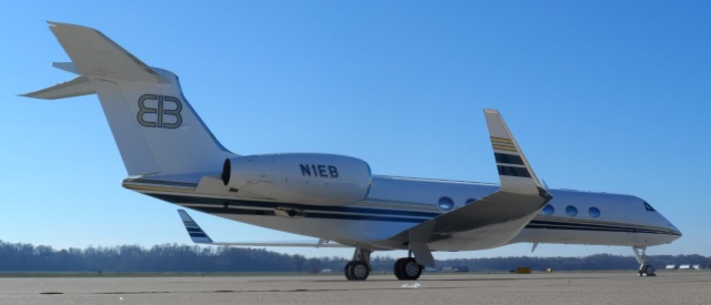 Rush lives big his EIB one Gulfstream private Jet.