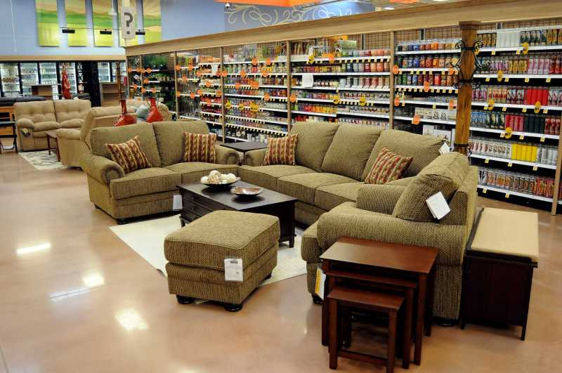 Furniture on display at the new Kroger Marketplace store in Kingwood Tuesday Oct. 22,2013.  (Dave Rossman photo)