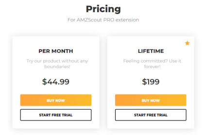 AMZ Scout Chrome Extension Pricing
