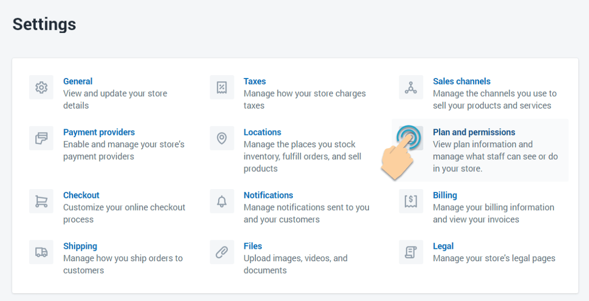 Upgrade Shopify plans