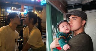 Janella Salvador and Markus Peterson proudly show their first born in public