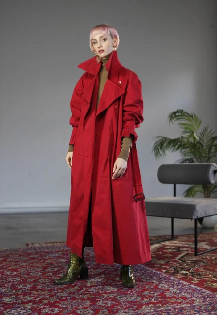 Rare Vintage 90's Aquascutum Trench Coat in Red