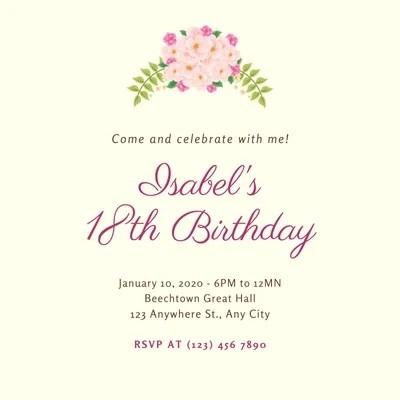 free printable 18th birthday